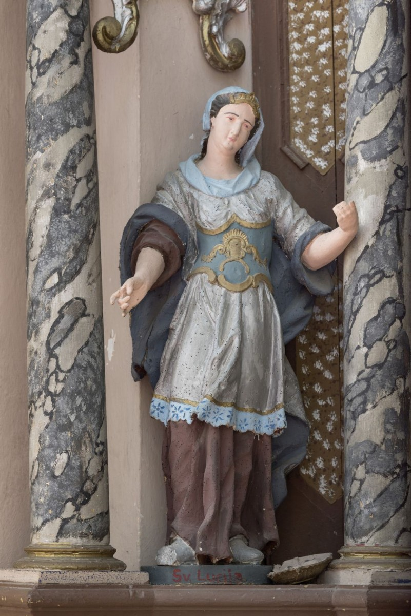 Sculpture of Saint Lucy (Photo by Croatian Conservation Institute, Goran Tomljenović, 2018)