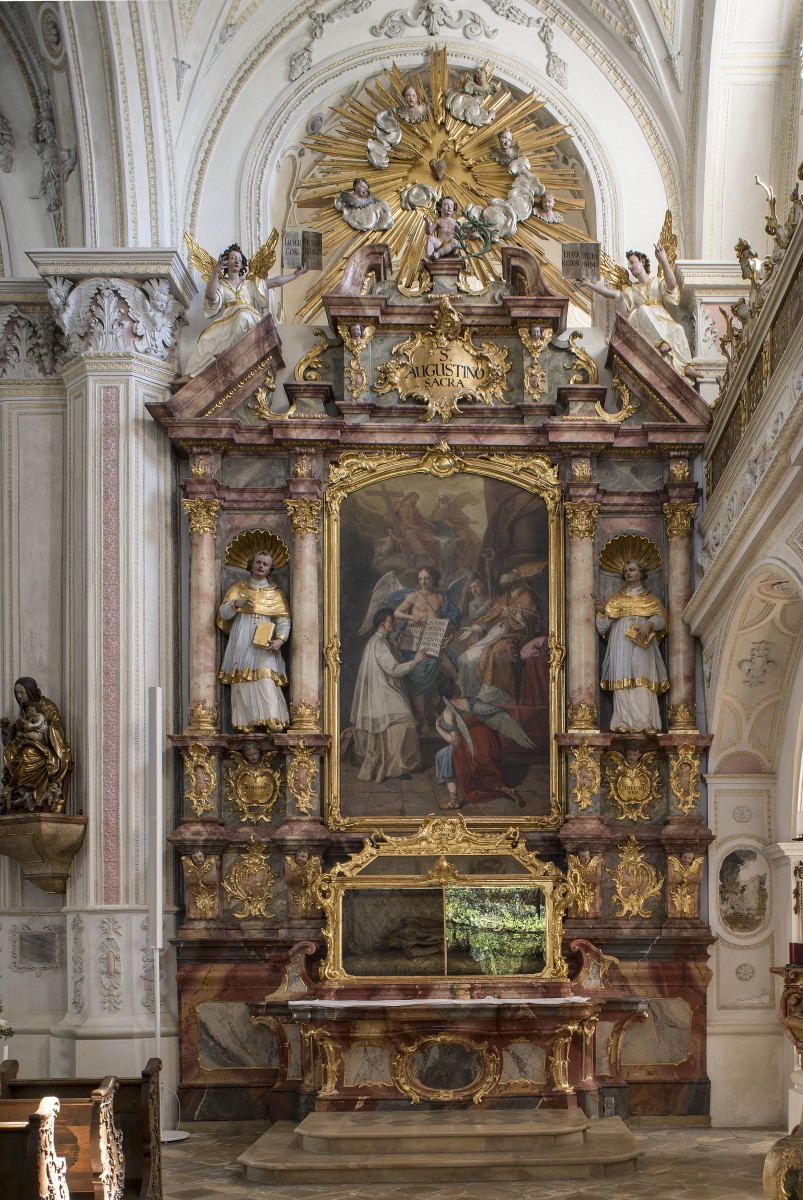 The sidealtar dedicated St Augustinus in the parishchurch Holy-Cross, Polling photo Bavarian State Department of Monuments and Sites Michael Forstner 07.2017