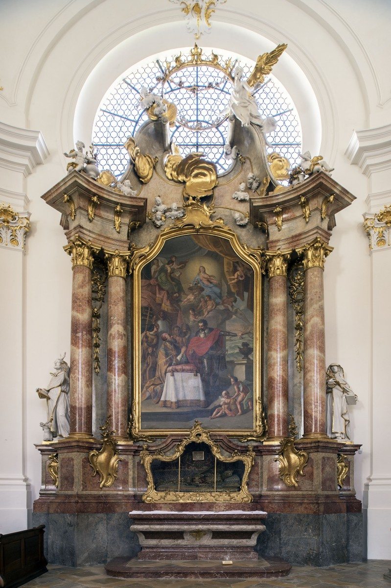 The Rosary altar in the monastery chuch St Dionys and Juliana, Schäftlarn, photo Bavarian State Department of Monuments and Sites, photo Michel Forstner  07.2017