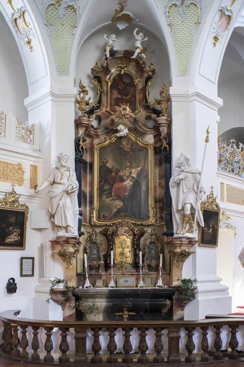 The side altar St Wendelin in the parish- and former monastery church St Alto and St Birgitta, Altomünster, photo Bavarian Stte Department of Monuments and Sites Michael Forstner 07.2017