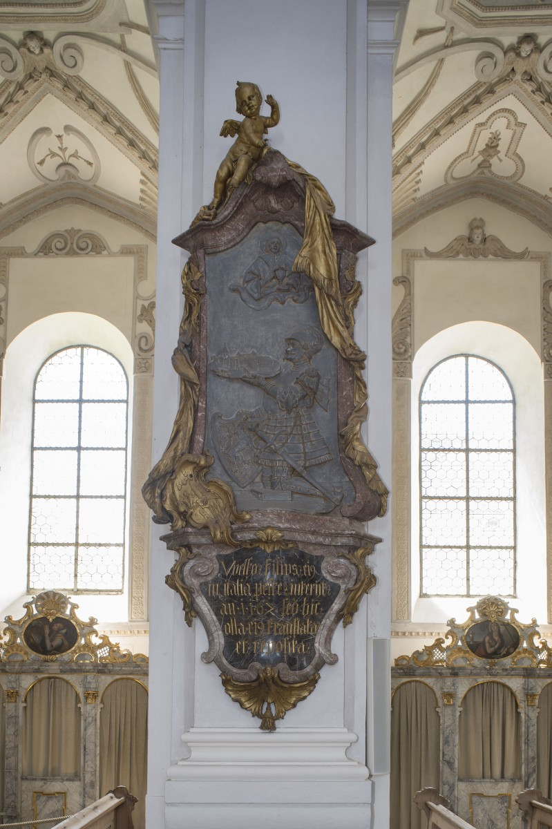 The memorial for Welf VII in the parishchurch St John Baptist, Steingaden photo Bavarian State Department of Monuments and Sites Michael Forstner 11.2017