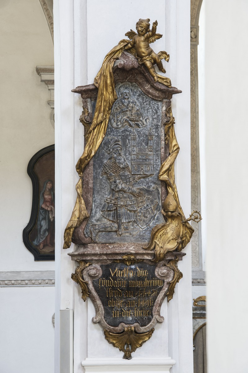 The memorial for Welf IV in the parishchurch St John Baptist, Steingaden photo Bavarian State Department of Monuments and Sites Michael Forstner 11.2017