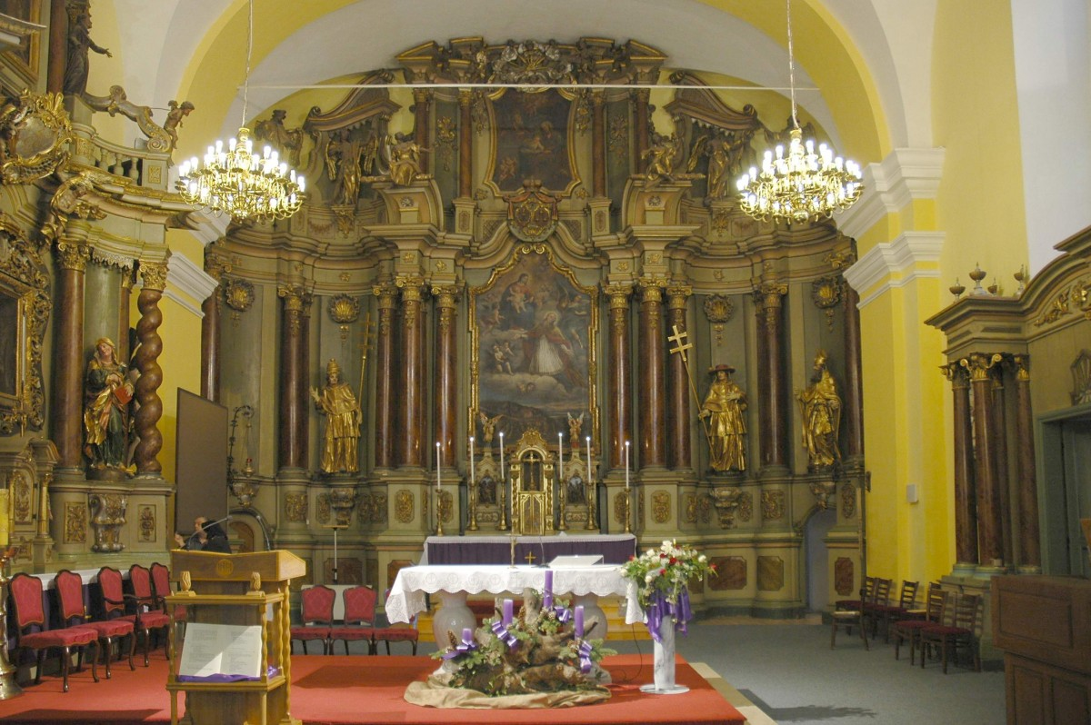 The high altar in Čakovec (Croatian Conservation Institute Photo Archive, photo by Mario Braun, 2006)