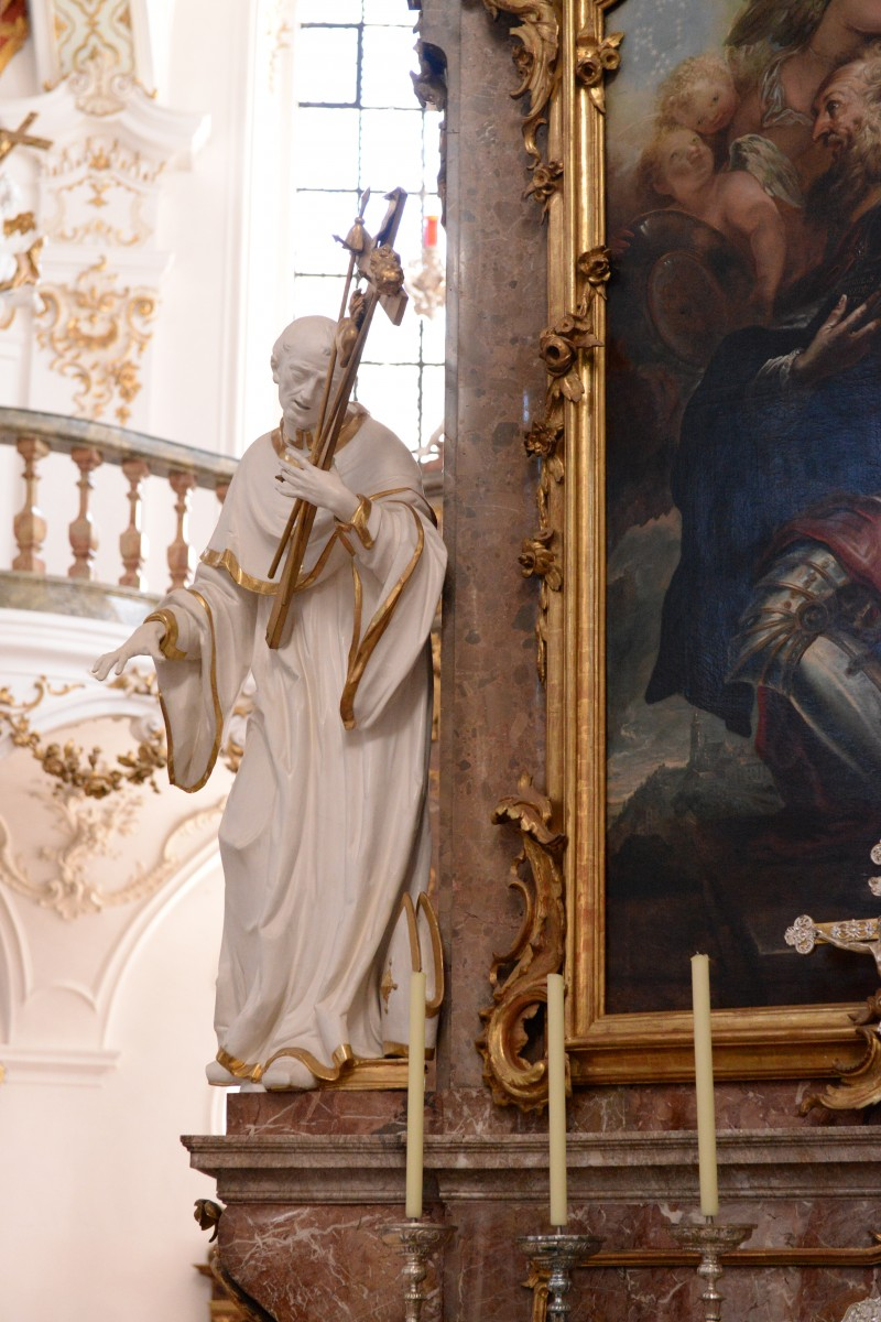 Right side altar S. Rasso of the Benedictine abbey- and pilgrimage church of St Nicholas, Elisabeth and Mary in Andechs, Photo: M. Mannewitz, 2018