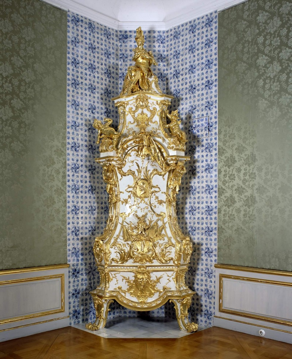 Brühl, Augustusburg Palace, the stove in the Audiencechamber of the Summerappartment (LVR-Amt für Denkmalpflege Rheinland, photo by: Silvia Margrit Wolf, 2012)