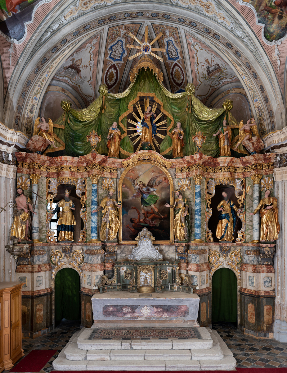 The high altar in the Parish Church in Velika Ludina (Croatian Conservation Institute Photo Archives, Photo by Goran Tomljenović, 2019)