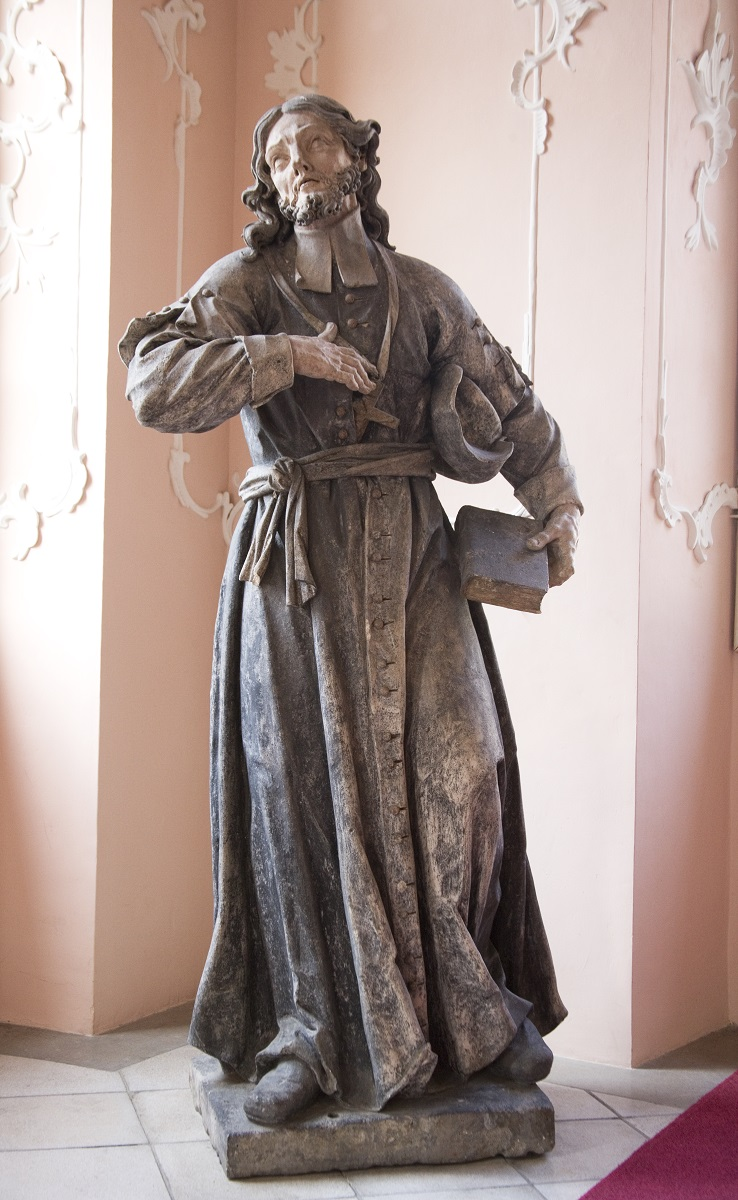 The sculpture of St John of Nepomuk in the Regional Museum Maribor (Institute for the Protection of Cultural Heritage of Slovenia, photo by Valentin Benedik, 2018)
