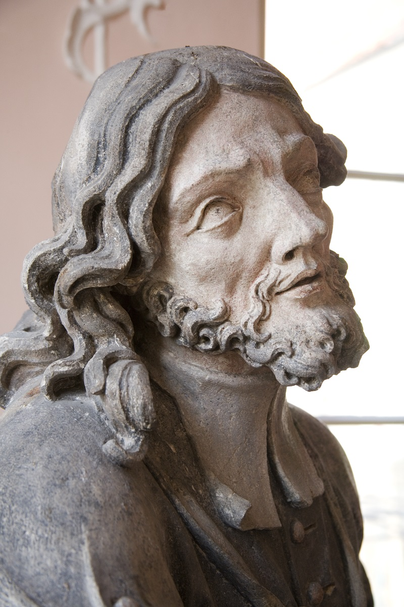 The sculpture of St John of Nepomuk in the Regional Museum Maribor, detail (Institute for the Protection of Cultural Heritage of Slovenia, photo by Valentin Benedik, 2018)